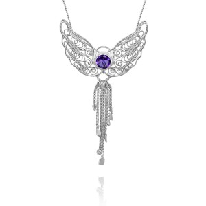 Peace Angel Amethyst and filigree